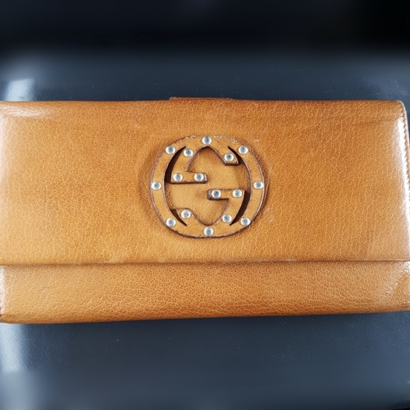 0d639bcc7e78 Gucci Bags | Authentic Leather Blondie Gg Wallet Studded | Poshmark